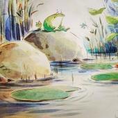 Formar part de la coral és el somni de totes les granotes de l'estany.  L'Arlet té una veu sublim, però és massa petita. La Berta, en canvi, té un cos de cantant, però canta molt malament.  Un llibre que ens ensenya que tots tenim talent per fer alguna cosa bé... només hem de descobrir què!  LA CORAL DE LES GRANOTES  #lacoraldelesgranotes  Fotos de @cantamunconte