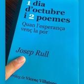 1 dia d'octubre i 2 poemes. Quan l'esperança venç la por. Escrit per @joseprulliandreu pròleg de #vicençvillatoro Ara sí que ja ha arribat a totes llibres. Molt contents de la reacció dels primers lectors👏😊