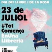 #totcomençaenunallibreria #23juliol #23julioldiadelllibreilarosa #llibres #llibreteres #llibreters #llibretersdecapçalera #llibreter