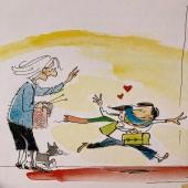 """""""Quina bufanda tan bonica! És única al món! I fa olor de l'àvia!"""" FER MITJA de @jacquesgoldstyn  Ben aviat a les llibreries.   #bufanda  #fermitja  #llana  #agulles  #àviamaria  #bruna  #àvia  #neta  #simboleditors  #símboleditors"""